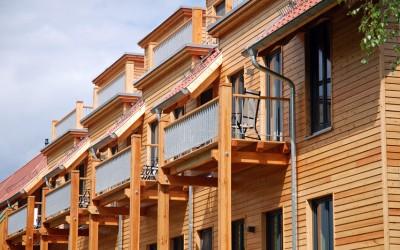 Reihenhaus aus Holz